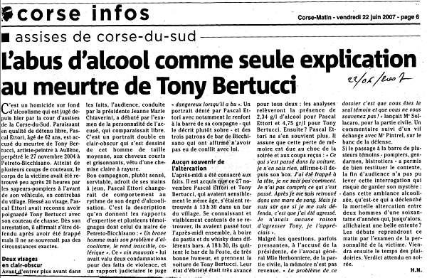Appel procés Bertucci Tony