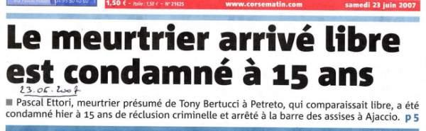 Appel Procés Assises Meurtre Bertucci Tony