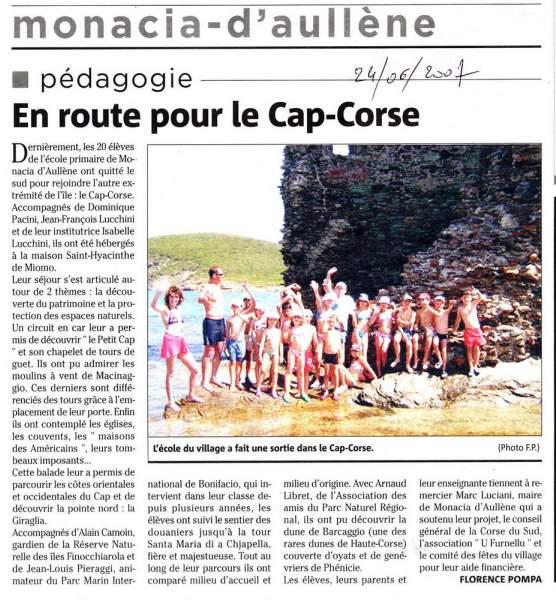 Voyage Scolaire Cap Corse