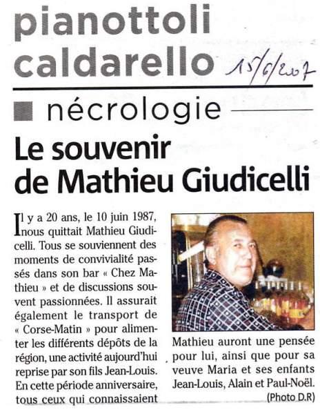 In Mémoriam Mathieu Giudicelli