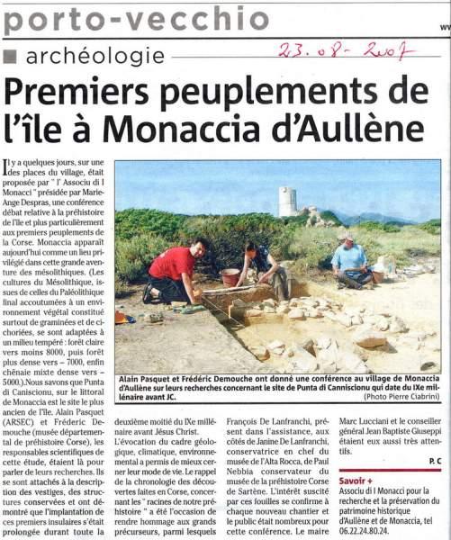 Monacia Archéologie