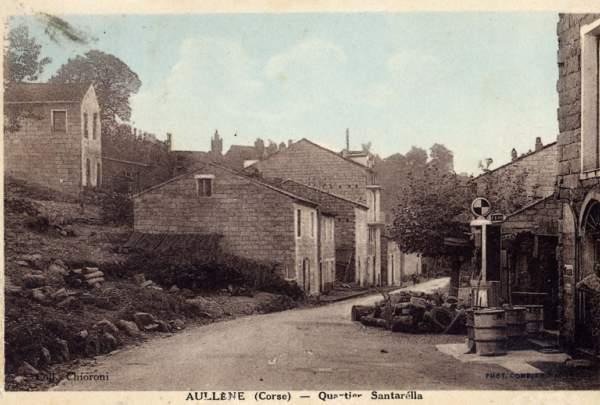 station d'essence à Aullène en Alta Rocca sur la route de Sartène en 1935