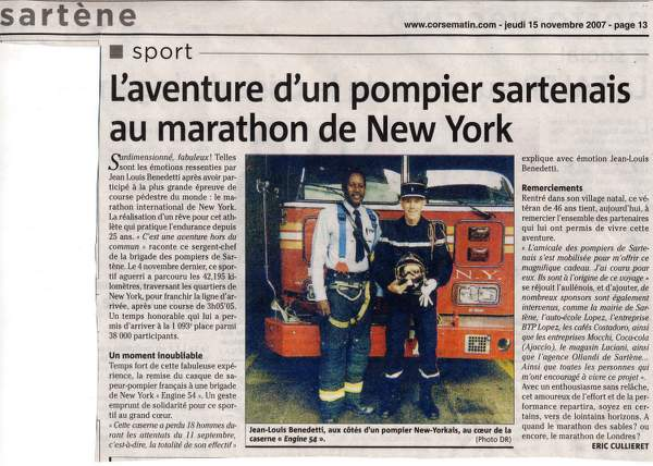 Benedetti J Louis Marathon New York