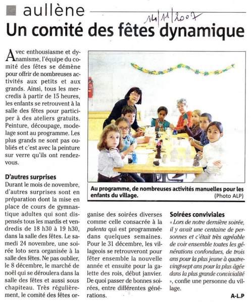 Comité fêtes 2007