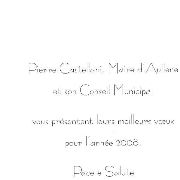 Voeux Mr le Maire 2008
