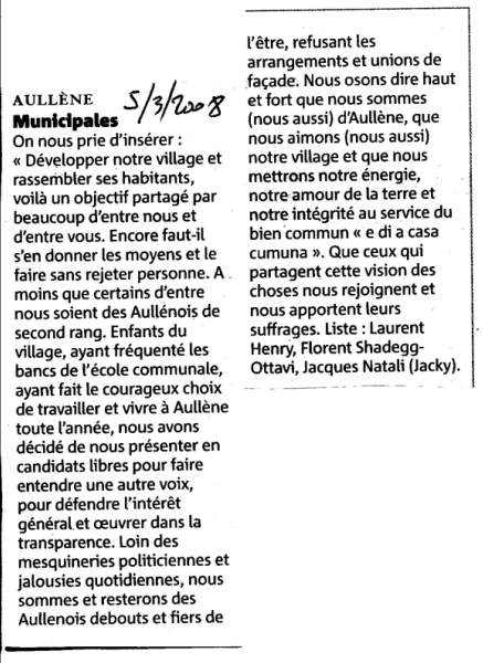 Elections Municipales 2008