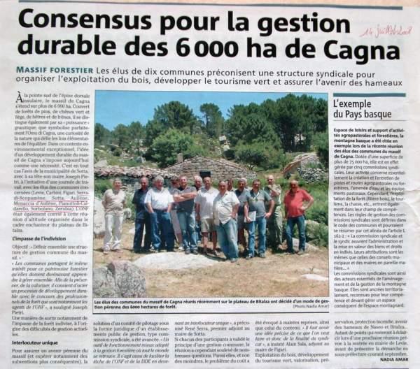 gestion du massif de Cagna