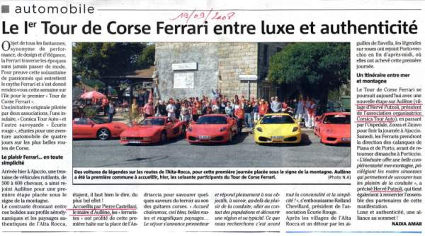 Tour Corse Ferrari