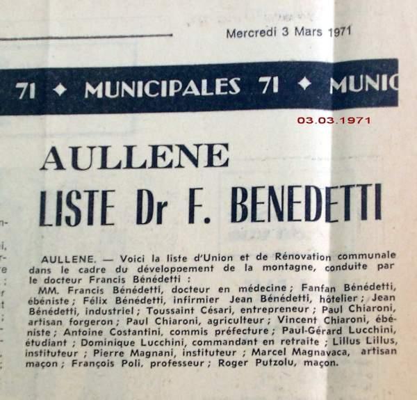 élections municipales 1971