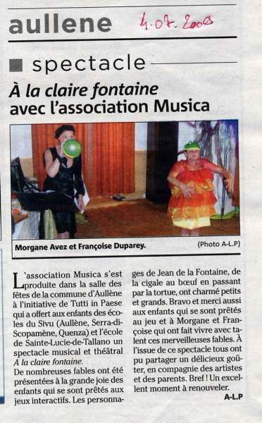Fête Spectacle Association Musica