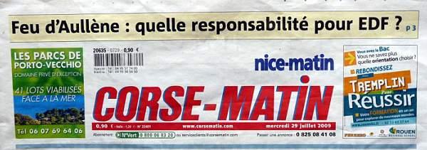Feu Aullène 28.07.2009