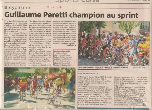 Course Cyclistes 2010