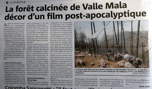 Tournage film forêt Saint Eustache 2010
