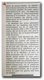 article du 'Petit Bastiais' du 11 novembre 1893 sur la statistique criminelle