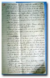 rapport de gendarmerie de 1933 relatif au vol du véhicule de Franois Lucchini à Aullène