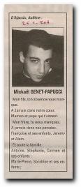 notice in memoriam Mickaël Genet-Papucci