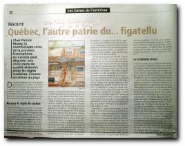 article de presse sur Jean-Louis Benedetti, originaire d'Aullène, qui propose, entre autres choses, du figatellu (ficateddu) au Québec