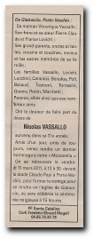 notice de décès de Nicolas Vassallo et remerciements