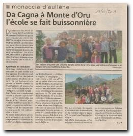 classe découverte pour les élèves de l'école de Monacia