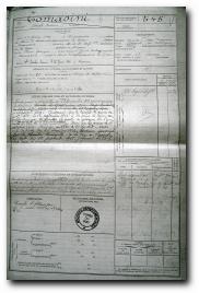 fiche militaire de Joseph Marie Tomasini d'Aullène et Monacia